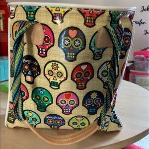 consuela skull tote bag
